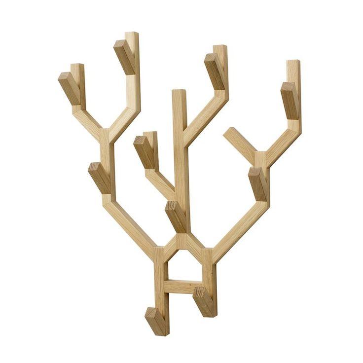 Originele Eiken Wandkapstok van #ComingB #wood