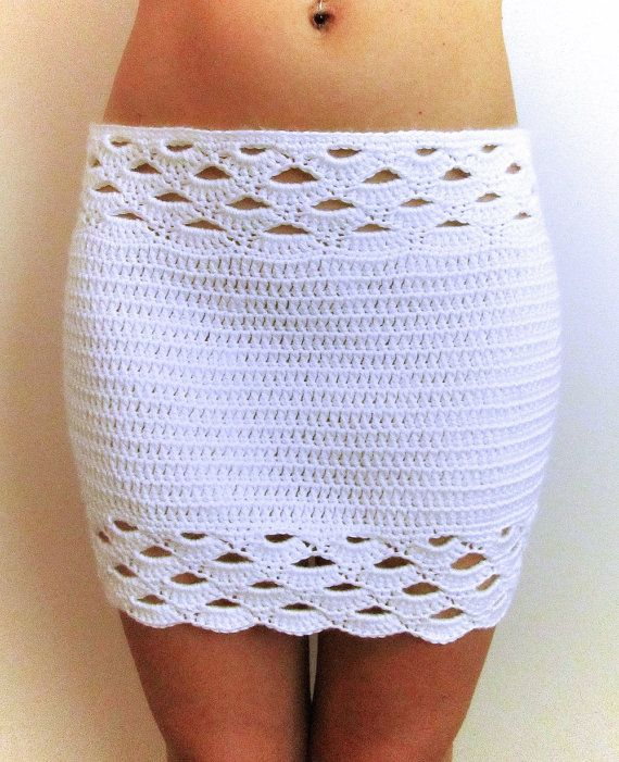 ****This listing is for an instant downloadable PDF pattern only**** You can crochet this skirt for the beach or for a night out on the town. It is crocheted in the round so no need for sewing side seams! Pattern is written for sizes xs, sm, med, large, x-large. Skill Level: Intermediate or ambitious beginner!  Materials required: 2 skeins (315 yds each) medium weight yarn Size F crochet hook Stitch markers  The pattern is downloaded in a PDF format & requires Adobe Reader. It is written…
