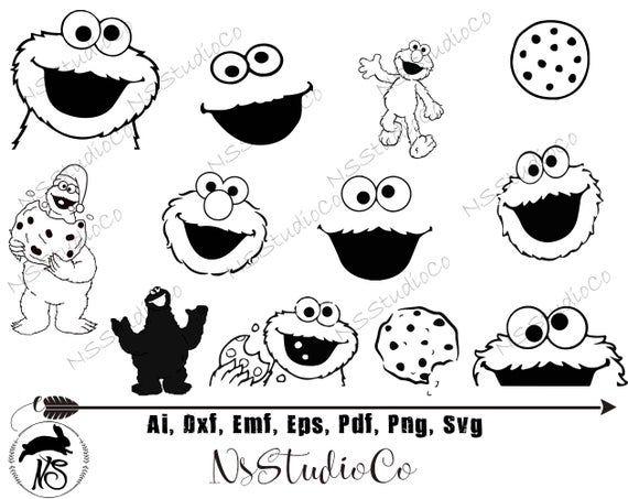 Cookie Monster Svg Elmo Svg Monster Svg Cookie Monster Clipart Cookie Monster Digital Clip Art Monster Clipart Digital Clip Art Monster Cookies