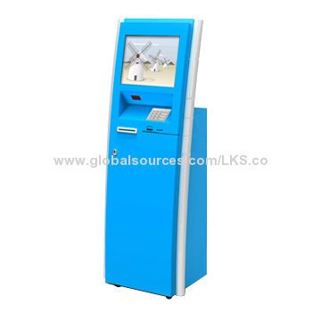 Floor Standing Touch Kiosk Terminal with Magnetic Stripe Card Reader Function