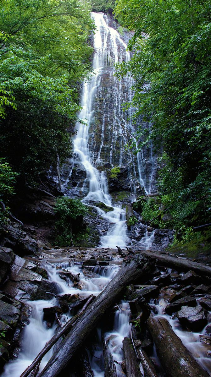 Mingo Falls near Cherokee, North Carolina, and Great Smoky Mountains National Park