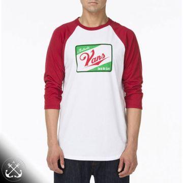 c3d706607 Vans - Sk8 Hi Life Raglan Tee White/Chilli | Cool T-shirts | Raglan tee,  Vans sk8, Vans