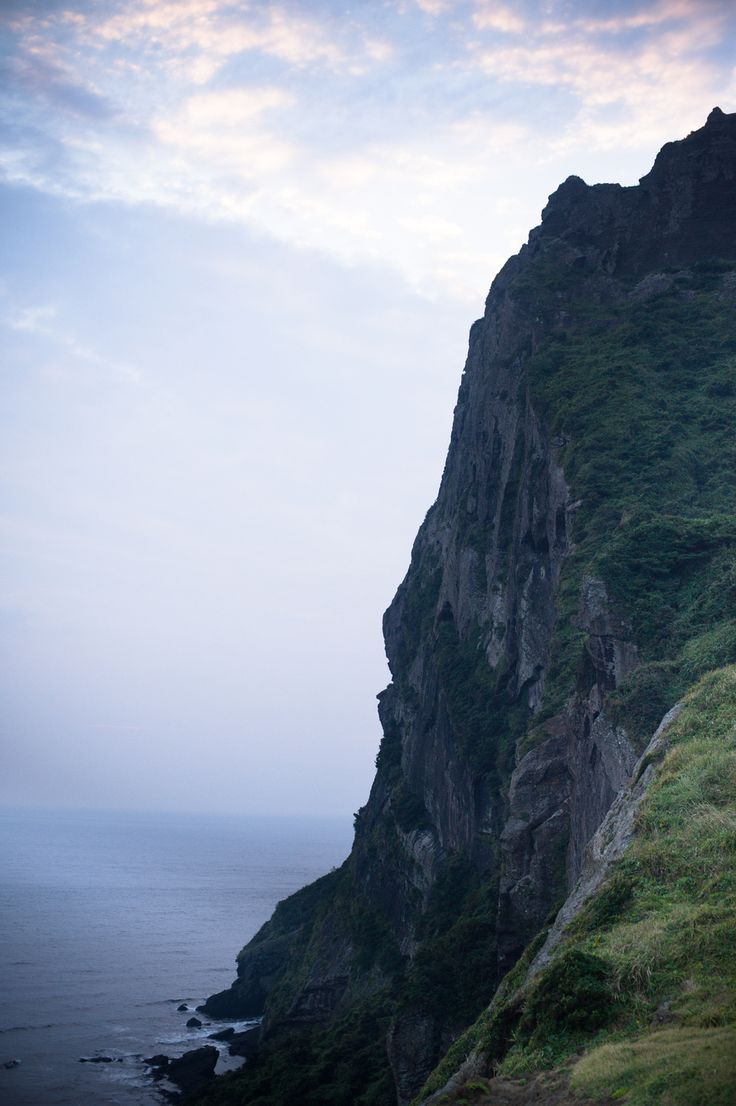 Jeju Island South Korea, hiking Sunrise Peak