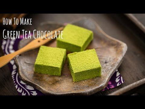 How to Make Green Tea Chocolate / Matcha Nama Chocolate (Recipe) 抹茶生チョコレートの作り方(レシピ) - YouTube