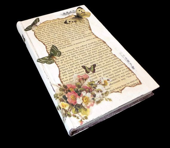 Vintage Style Altered Books, Original Gifts for Book Lovers, Classic Books for Wedding Decor, Literature Art Gift Idea,