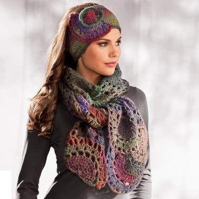 sciarpa e fascia per capelli con schema