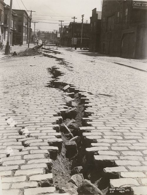 San Francisco, April 18th, 1906. Folsom Street after the Great Earthquake