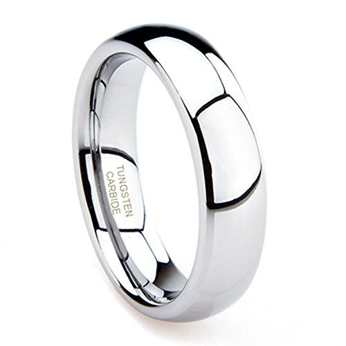 Tungsten Carbide Mens Plain Dome Polished Wedding Band Ring Size Jewelry New Releases 24 Hour Deals Buy Five Star Products With Up To