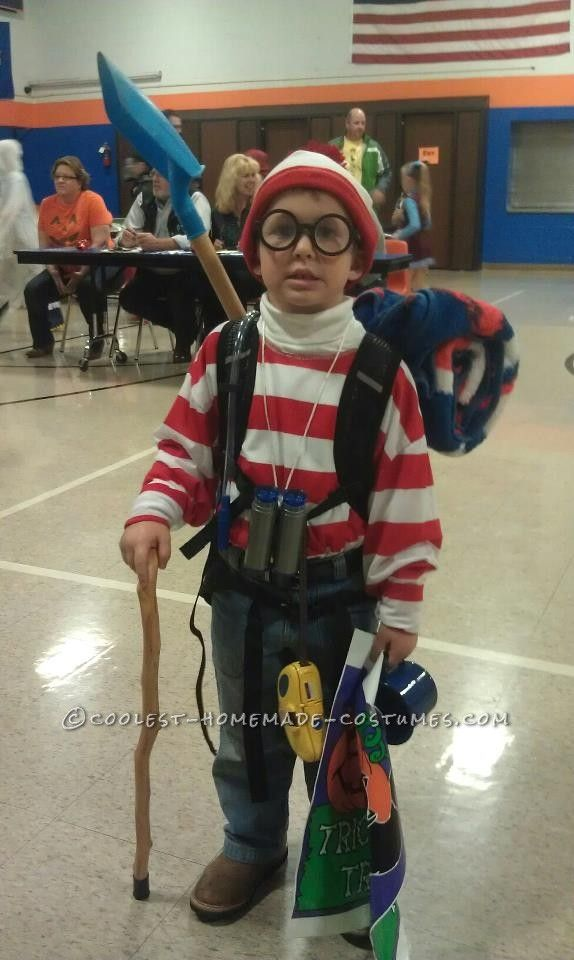 spruced up wheres waldo costume for a boy - Judy Moody Halloween Costume