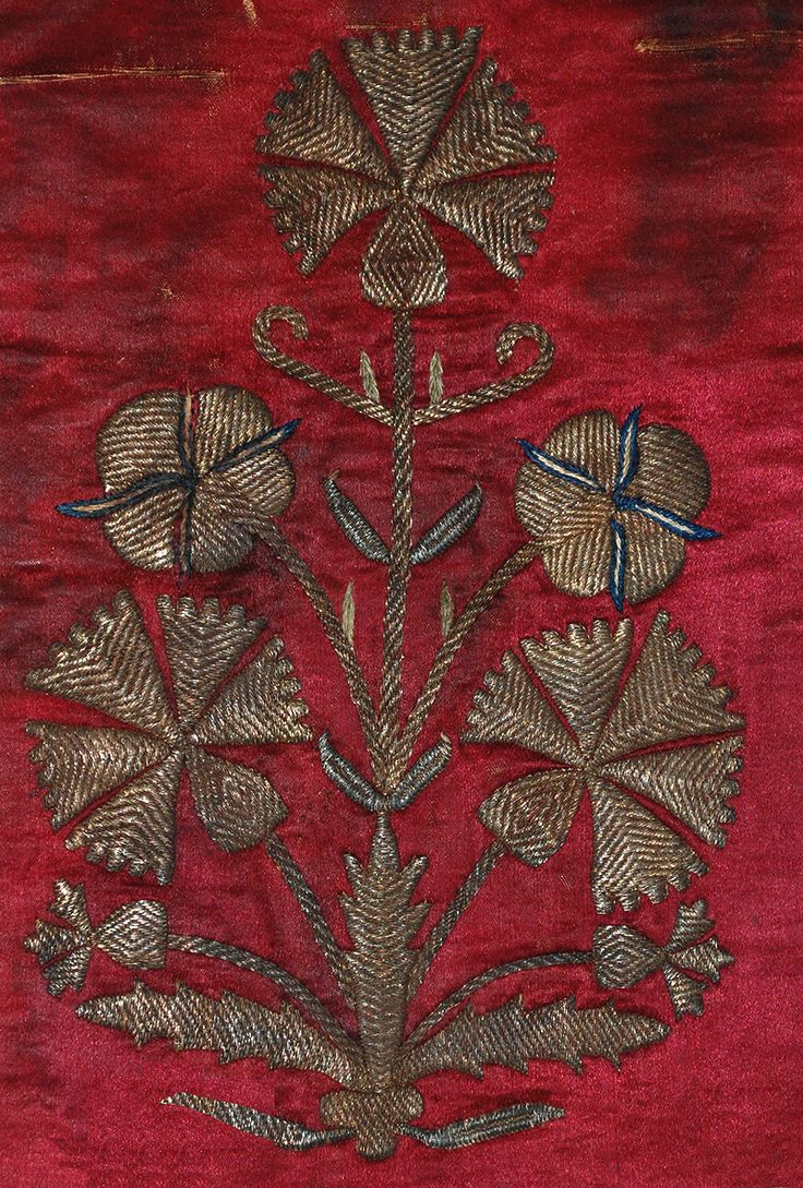 ottoman era embroidery in metallic thread