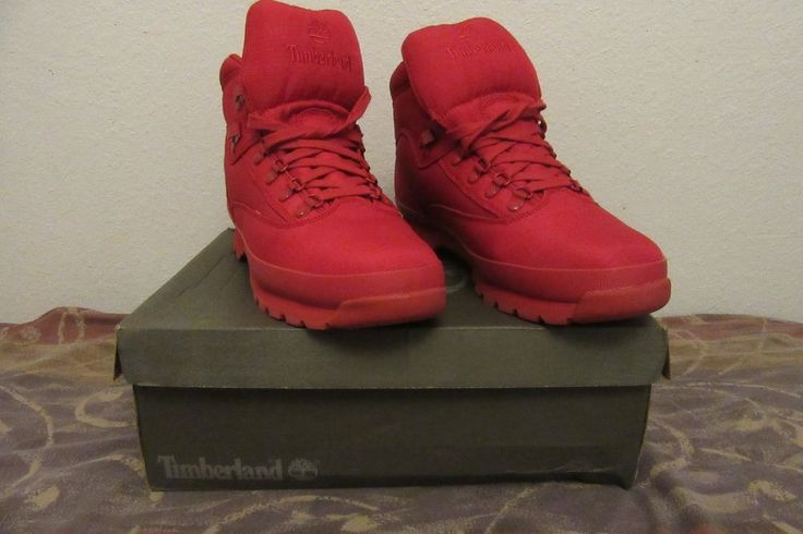 Timberland Euro Hiker Rip Boots Size 13 Mono Red Release Model A1507  #Timberland #HikingTrail