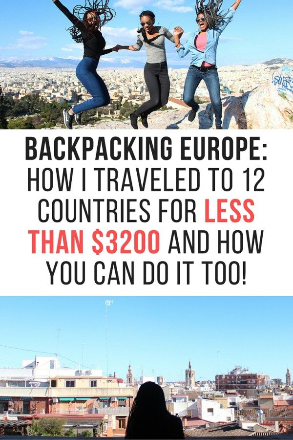 Backpacking Europe: I traveled to 12 countries WITHOUT spending a fortune AND I didn't sleep on the couches of strangers to do it. Here's how you can do it to!