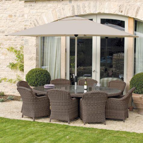 Royal Kensington 10 Piece Ellipse Garden U0026 Conservatory Dining Set | Costco  ...