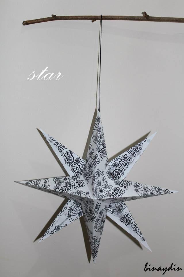 star , christmas star , diy , origami , paper star
