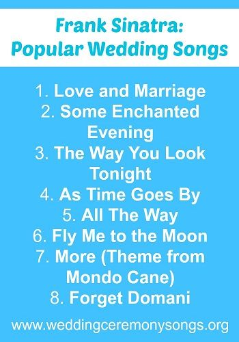 #weddingmusic #franksinatra                                                                                                                                                                                 More