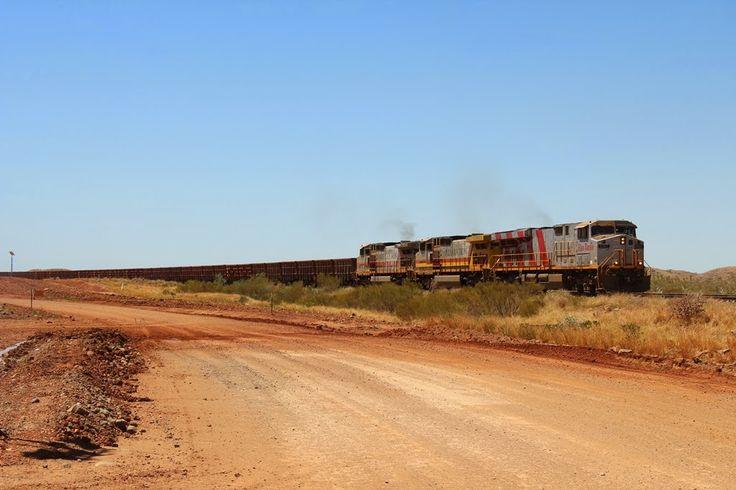 Rio Tinto Iron Ore Train, Karratha, Western Australia