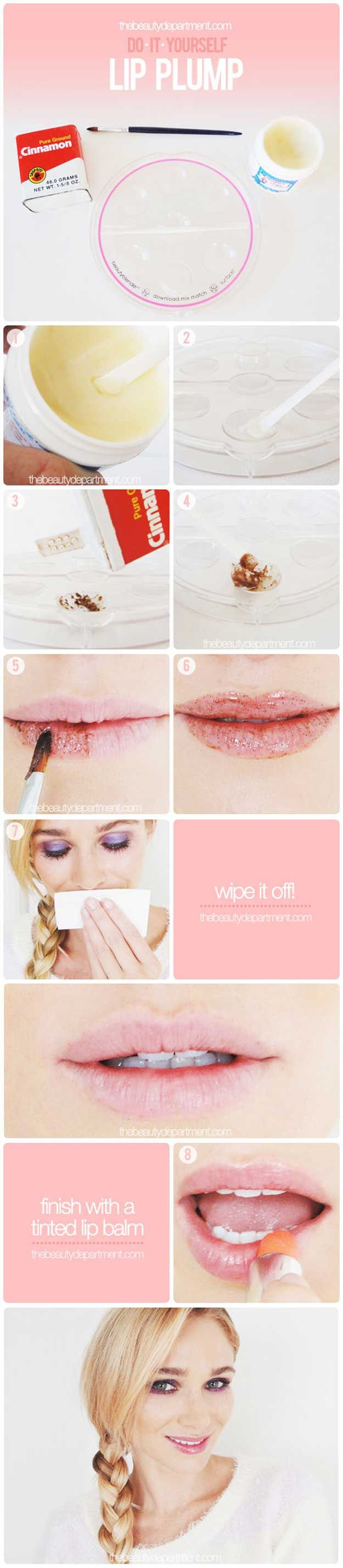 Check out 11 DIY Lip Plumper Ideas for Naturally Plump Lips at http://diyready.com/diy-lip-plumper-ideas/