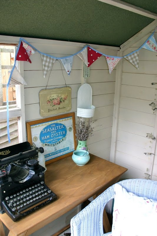 love: Nuts about Beach Huts - bunting is a must!!!