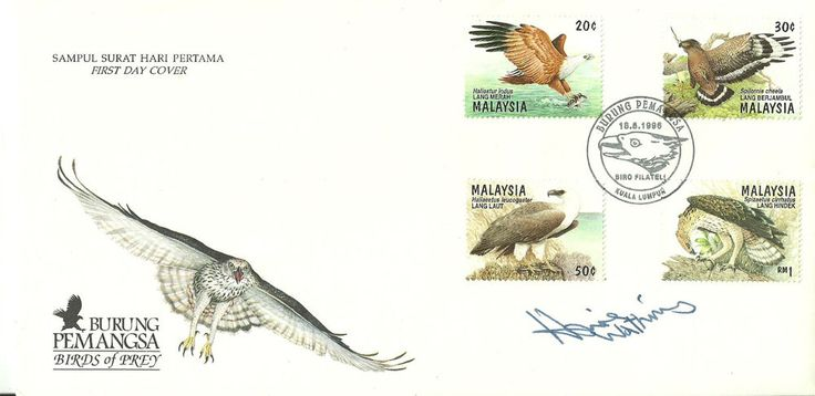 Burung Pemangsa Birds of Prey FDC signed by Howie Watkins Just listed...Check it out now!!!
