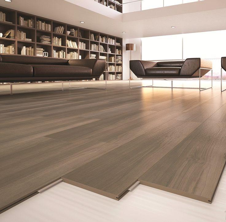 Del Conca 8 In X 32 In Fast Locking Porcelain Wood Floor