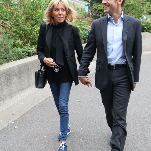 Emmanuel Macron et sa femme Brigitte Trogneux le 04 septembre 2016