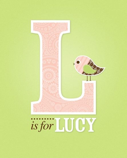 just because I LOVE the name Lucy :))