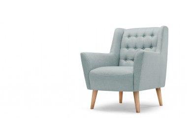 Quentin fauteuil, ijsblauw