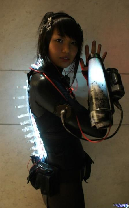 Future, Futuristic, Cyberpunk, Cyber Girl, Future Girl, Cyborg, Augmentation, Futuristic Look, Girl power, DragonCon 2011 by ~melell on deviantART