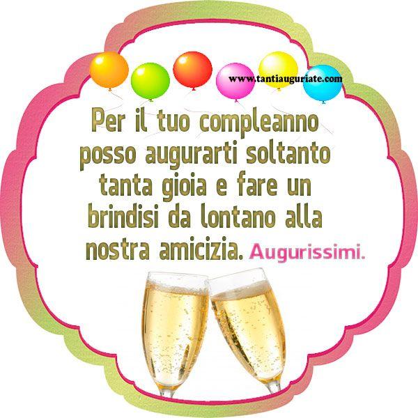Un brindisi da lontano alla nostra amicizia. Augurissimi. #compleanno #buon_compleanno #tanti_auguri