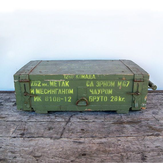 Vintage Yugoslavian Army Wooden Ammo Crate 7 62mm M 67