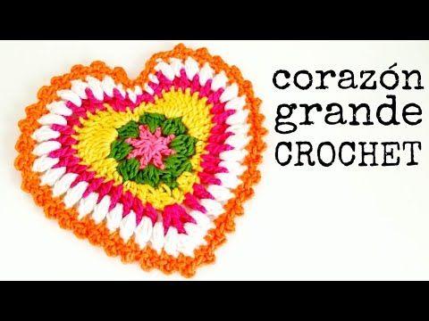 Aprende a tejer corazón al crochet / Tutorial | Crochet y Dos agujas