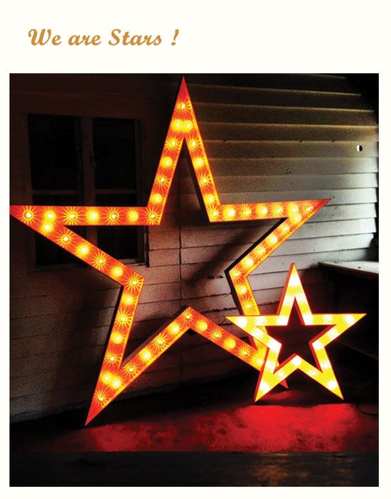 Vowed & Amazed | Theatrical Props | Illuminated props | Giant letters