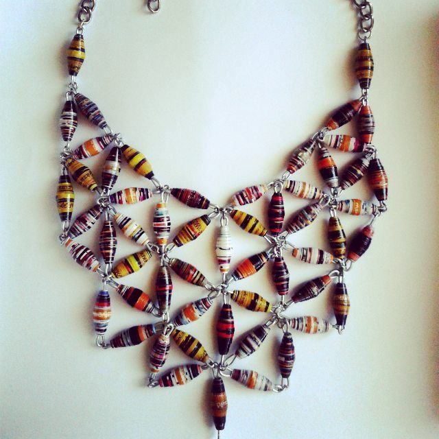 paper beads jewelry necklace