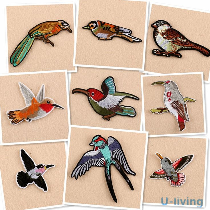 Cheap patches for clothing iron, Buy Quality patches for clothing directly from China bird patch Suppliers: 1pcs Mixture birds Patch for Clothing Iron on Embroidered Sew Applique Cute Patch Fabric Badge Garment DIY Apparel Accessories