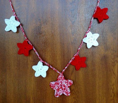 Csillagfüzér, nem csak karácsonyra:), Dekoráció, Karácsonyi, adventi apróságok, Ünnepi dekoráció, Karácsonyi dekoráció, Meska