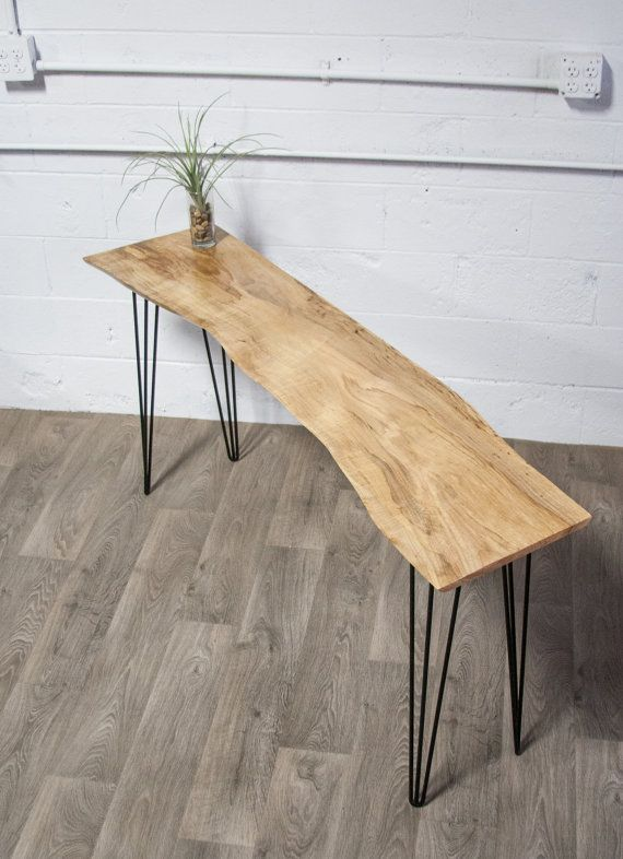 New Live Edge Maple Console Table Wood Natural