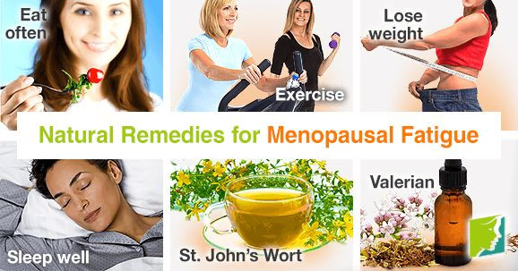 Natural remedies for menopausal fatigue.
