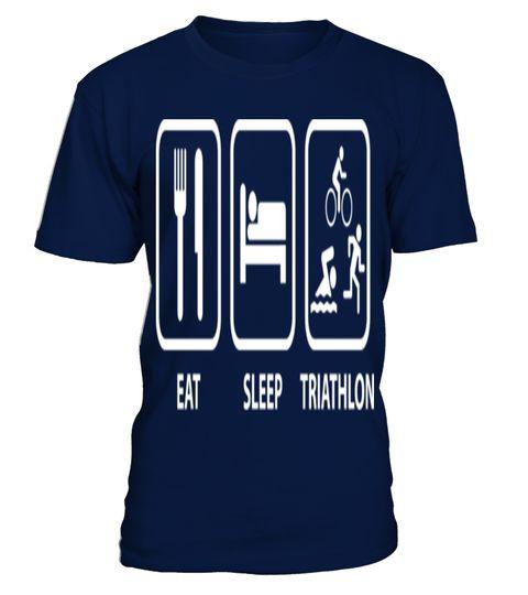 Eat Sleep Triathlon     Swim Bike Run funny  T Shirty best sport team player gift