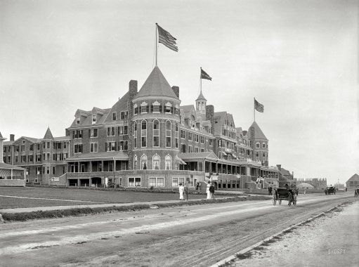 "Narragansett Pier, Rhode Island, circa 1910. ""Hotel (New) Mathewson."" For many years the pre-eminent lodging in the ""City of Hotels."""