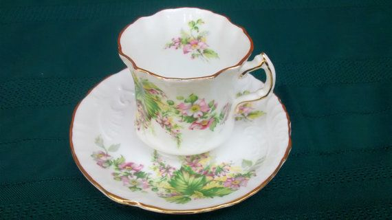 Vintage Hammersley Embossed Cup & Saucer Set by TheGlassMunkey