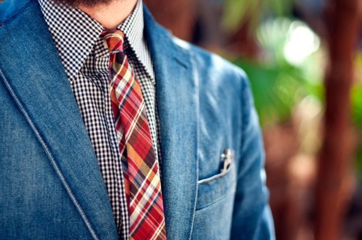Krawatte Hemd mehrfarbig alltag kariert rot blau sakko jeans #mode #tips #outfit #fashion #style