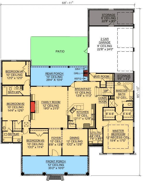 1000 ideas about acadian style homes on pinterest for Acadian house plans with bonus room