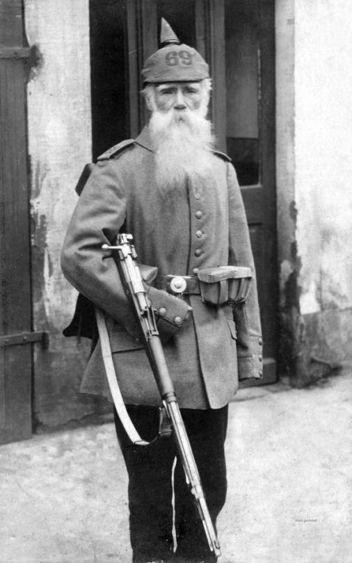 "Landwehr German soldier.  Landwehr were militiah, or ""home guard""; mostly those too old for service.  ttp://www.vantiques"