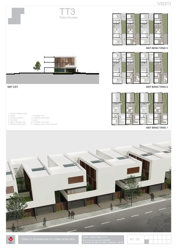 BIDV Village, housing typology by Phan Duy Quang, via Behance