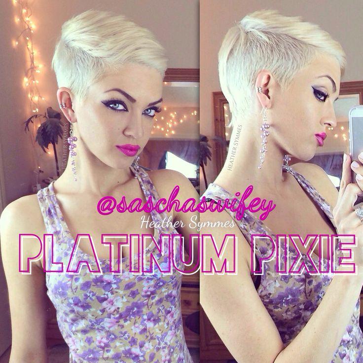 Platinum blonde pixie