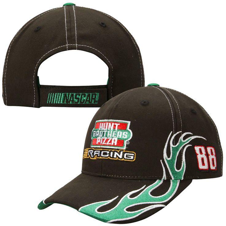 JR Motorsports Checkered Flag Big Flames Adjustable Hat - Black - $19.99
