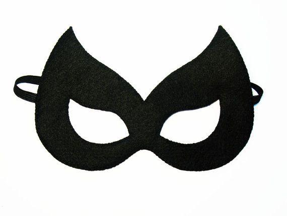 Catwoman sintió máscara (2 años - tamaño adulto) Gato Negro fiesta de Halloween…