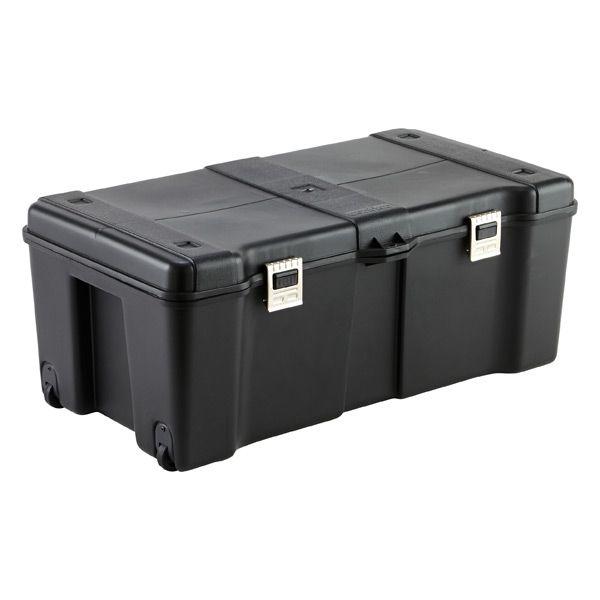 Black Storage Locker with Wheels
