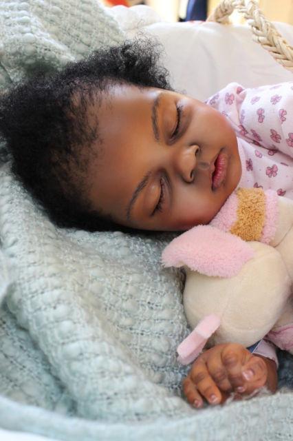 Big Baby Toddler Reborn Girl Ethnic African Black AA Doll Ariella by Reva Schick   eBay