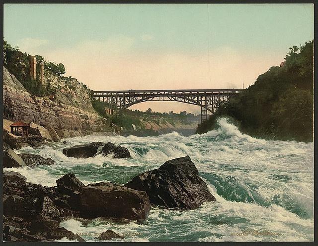 Whirlpool Rapids, looking up Niagara circa 1890 // www.whirlpooljet.com